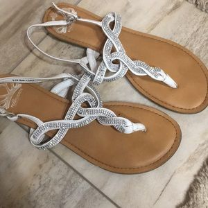 Faux diamond sandals